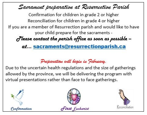 Resurrection Parish Sacrament Registration.JPG
