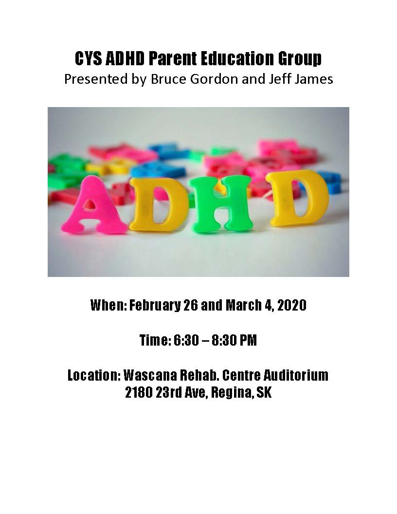 CYS ADHD Parent Education Group Poster