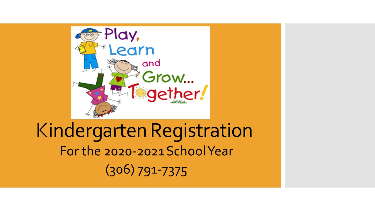 Kindergarten Registration for the 2020-2021 Year!