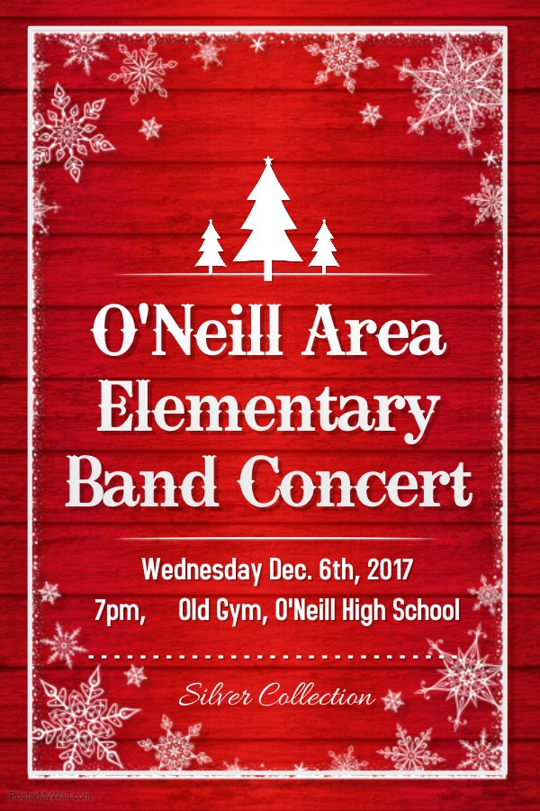 O'Neill Area Elementary Band Concert Poster - Dec. 6 2017.jpg