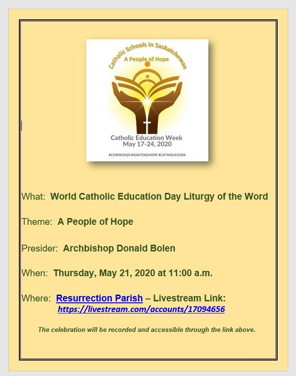 May 21 Catholic Education Week.JPG