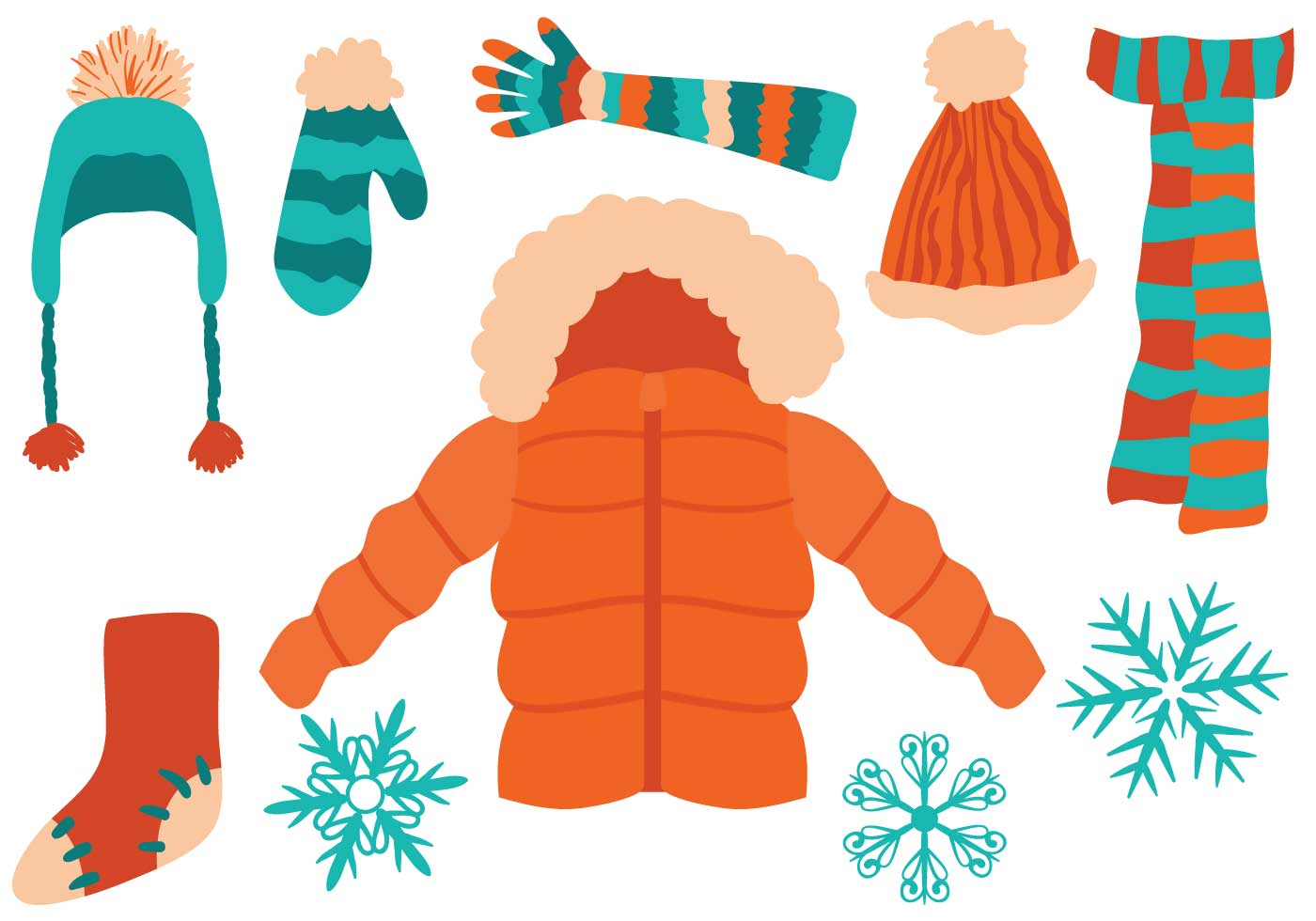 free-winter-clothing-vectors